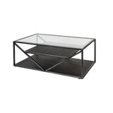 Veilleux Floor Shelf Coffee Table by Laurel Foundry Modern Farmhouse