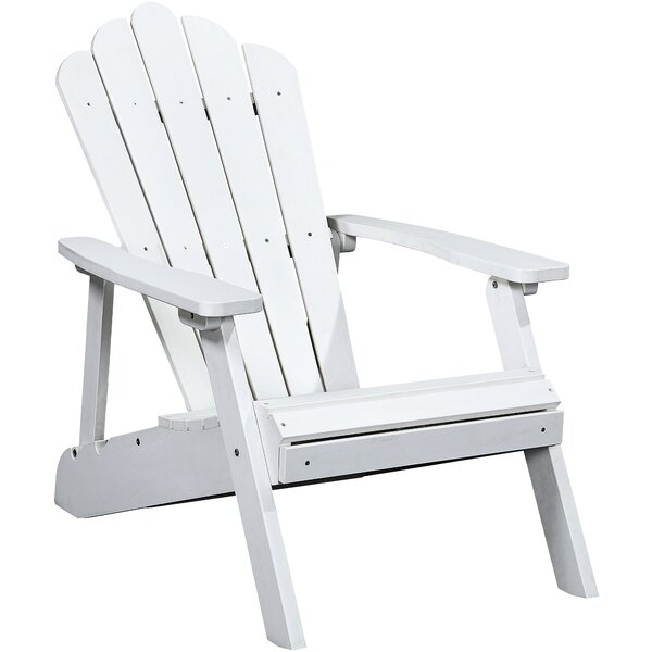 Sampson Deluxe Reclining Plastic Adirondack Chair with Ottoman by Rosalind Wheeler Rosalind Wheeler