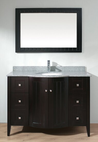 Ridgeport 48 Single Bathroom Vanity Set with Mirror by Bauhaus Bath