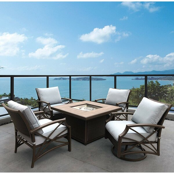 SeanPaul 5 Piece Rattan Seating Group with Cushions by Brayden Studio