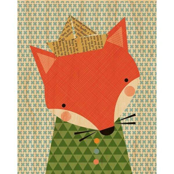 Shy Fox Decorative Plaque by Petit Collage