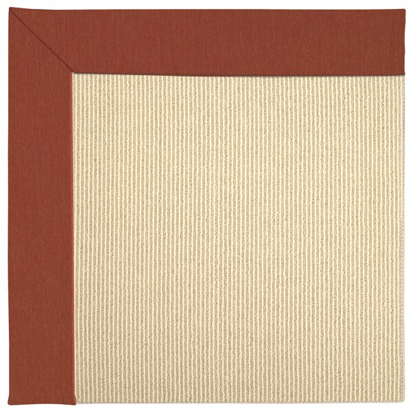 Lisle Machine Tufted Strawberry/Beige Indoor/Outdoor Area Rug by Longshore Tides