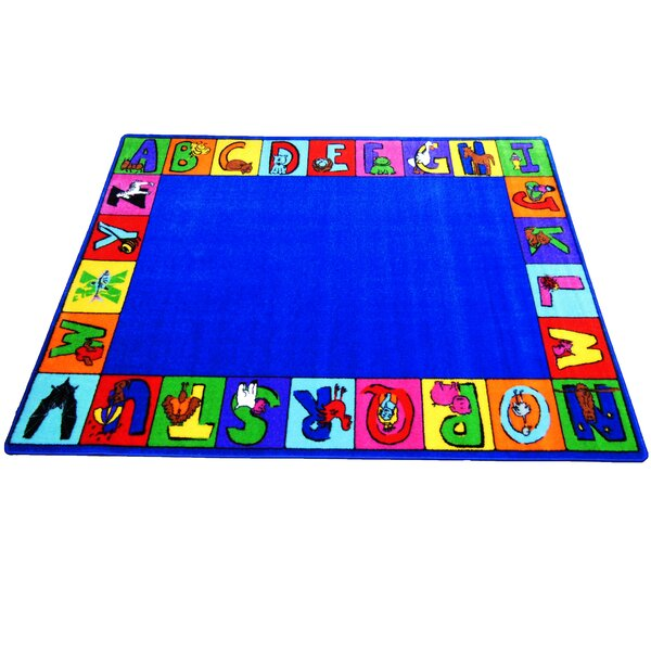 My Abc Squares Area Rug By Kids World Carpets.