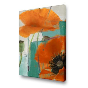'Painted Petals XXXIII' Painting Print on Wrapped Canvas by Ready2hangart