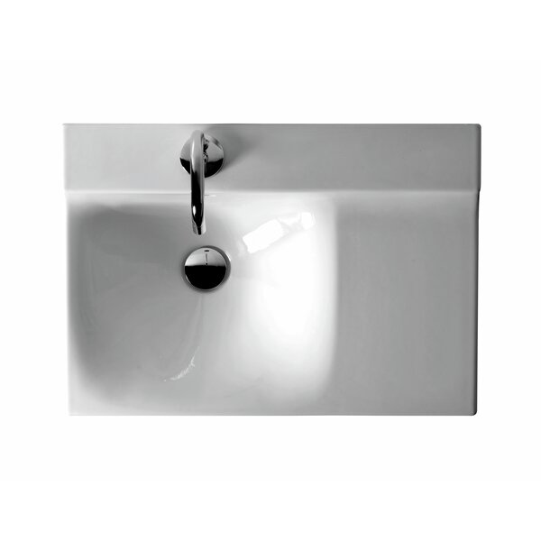 Buddy Ceramic 24 Wall Mount Bathroom Sink by WS Bath Collections