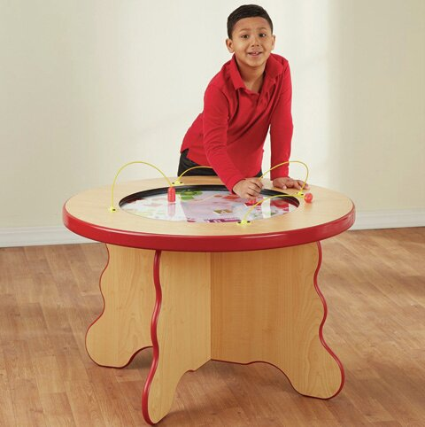 Kids Fruit and Veggie Magnetic Activity Table by Playscapes
