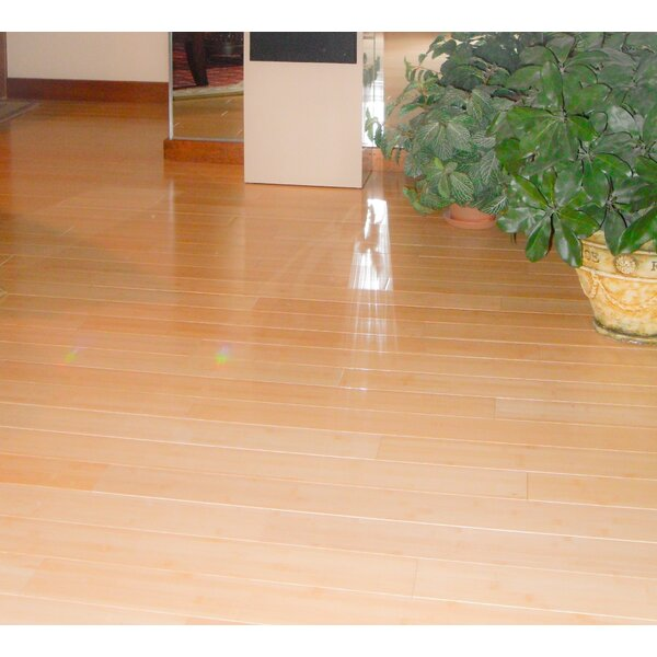 3-3/4 Solid Bamboo Flooring in Natural Matte by Hawa Bamboo