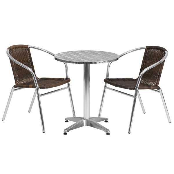 Caswell Round 3 Piece Bistro Set by Wade Logan