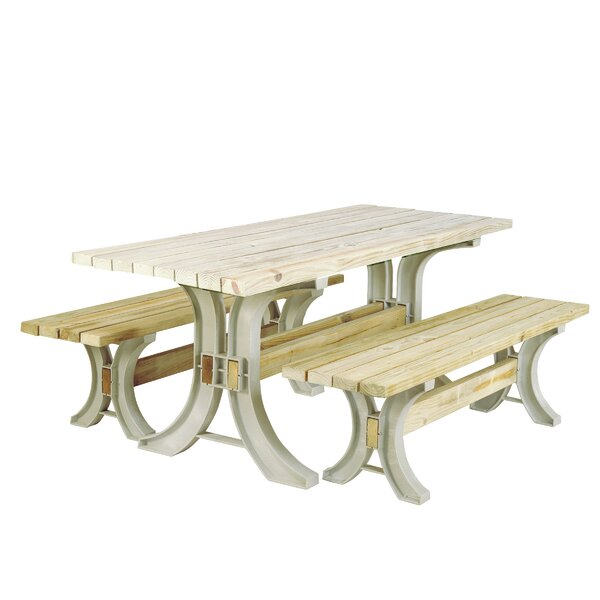 Marisela Picnic Table by August Grove August Grove