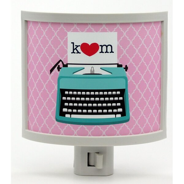 Mono Typewriter Love Personalized Night Light by Common Rebels
