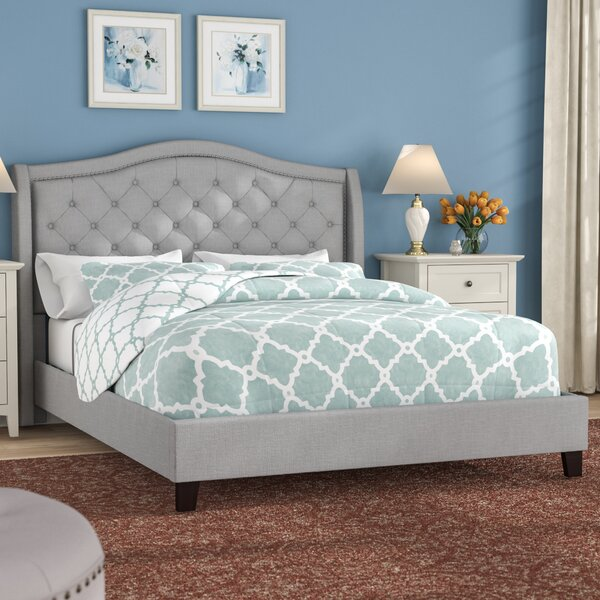 Laron Queen Upholstered Low Profile Platform Bed by Three Posts Three Posts