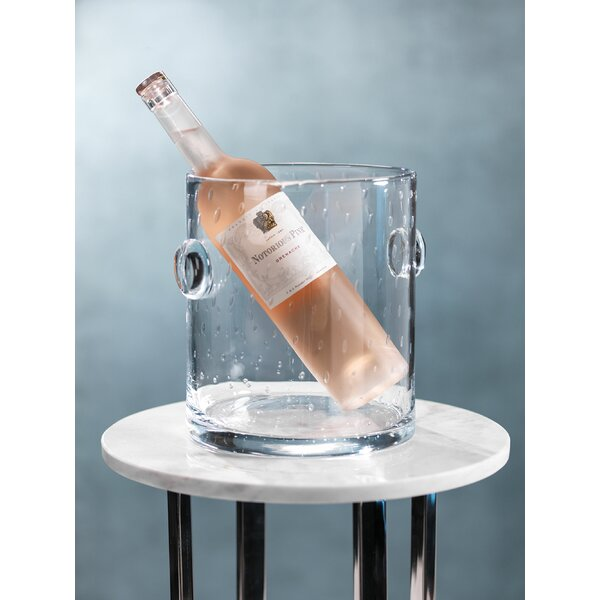 Baldemar Glass Ice Bucket by Highland Dunes