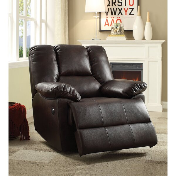 Carter Leather Power Recliner by A&J Homes Studio