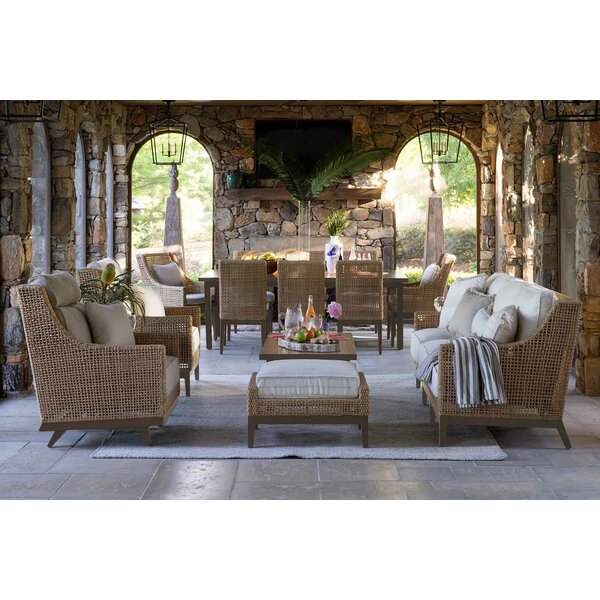 Peninsula 3 Piece Sofa Seating Group with Sunbrella Cushions by Summer Classics