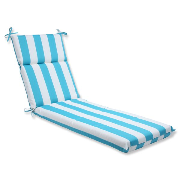 Cabana Stripe Indoor/Outdoor Chaise Lounge Cushion by Pillow Perfect