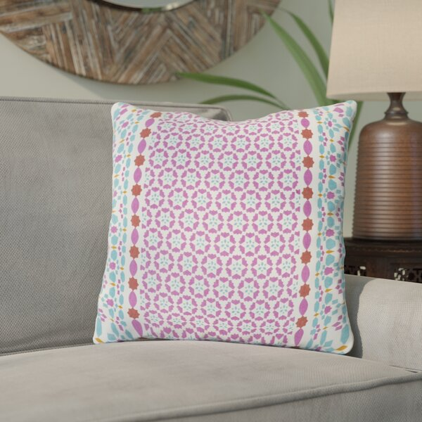 Kaleigh Geometric Cotton Throw Pillow by Bungalow Rose