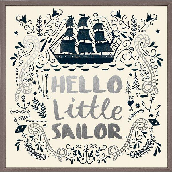 Bridgeton Hello Little Sailor Embellished Stretched Framed Canvas Art by Harriet Bee