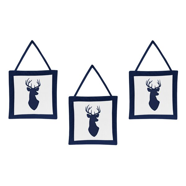 Woodland Deer Hanging Art (Set of 3) by Sweet Jojo Designs