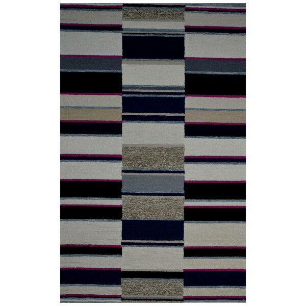Hand-Woven Ivory/Navy Blue Area Rug by Eastern Weavers