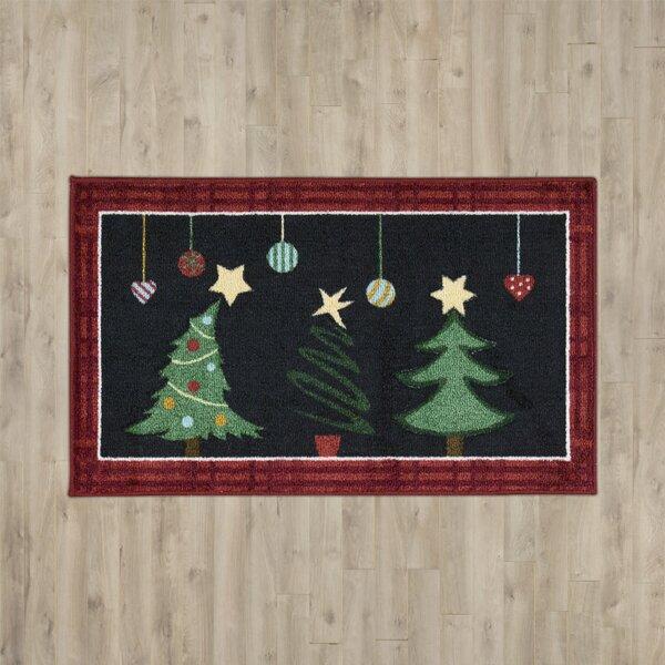 Bethel Happy Holidays Black Area Rug by Charlton Home