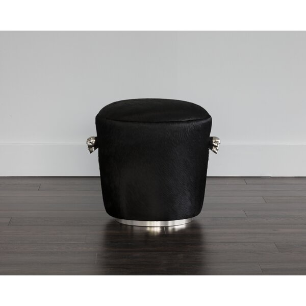 Kalil Leather Cocktail Ottoman By Orren Ellis