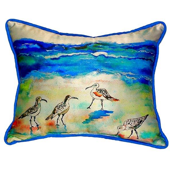 Sandpipers Indoor/Outdoor Lumbar Pillow