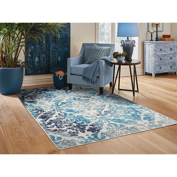 Bettine Blue Indoor/Outdoor Area Rug by House of Hampton