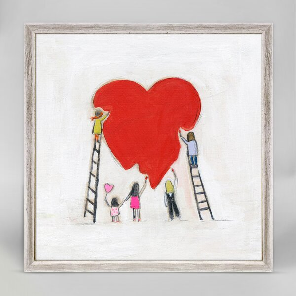 Cully Let Us Stand Together in Love by Marisa Mini Framed Canvas Art by Harriet Bee