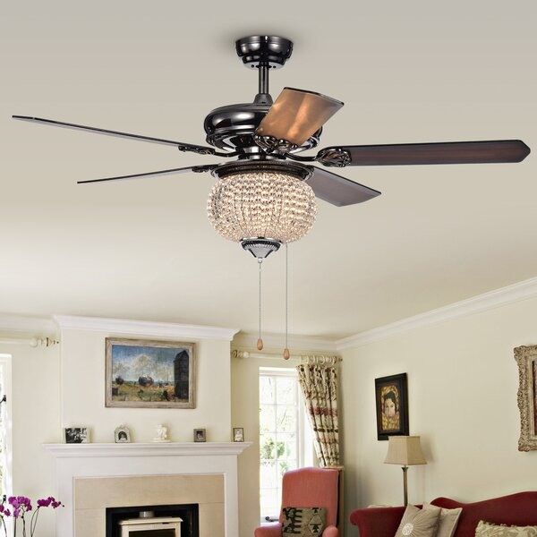 52 Lakes 5 Blade LED Ceiling Fan by House of Hampton