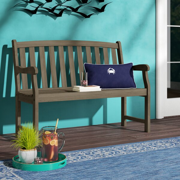 Aranmore Wooden Garden Bench by Beachcrest Home