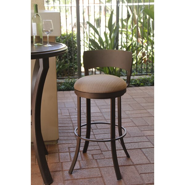 Patricia 30 Patio Bar Stool with Cushion by Winston Porter