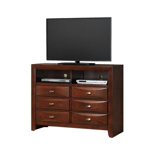 Charmant Plumwood Fully Assembled 6 Drawer TV Chest
