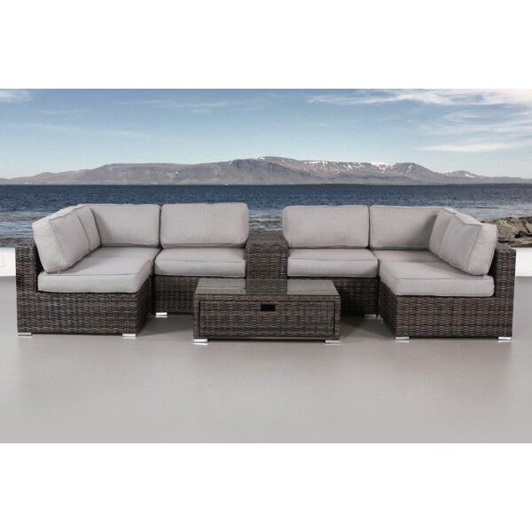 Eldora 8 Piece Sectional Seating Group with Cushions by Sol 72 Outdoor