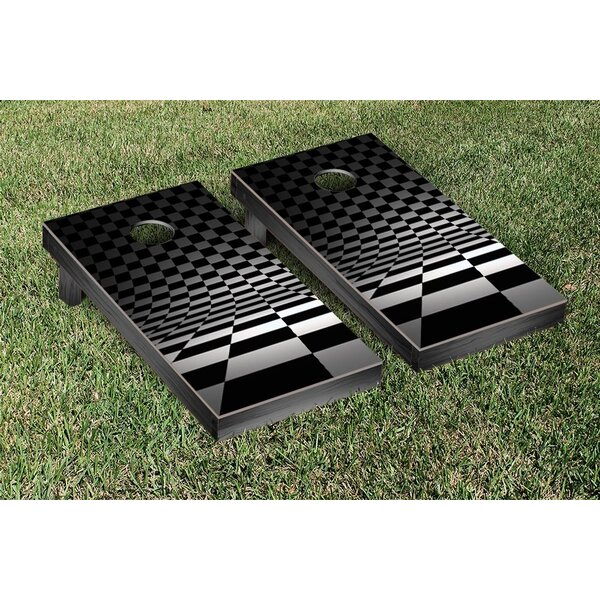 Checkered Flag Themed Cornhole Game Set by Victory Tailgate