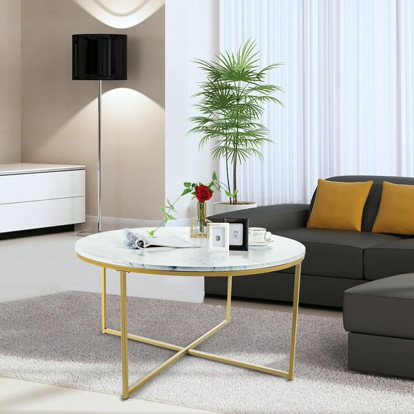 Deana Cross Legs Coffee Table By Mercer41