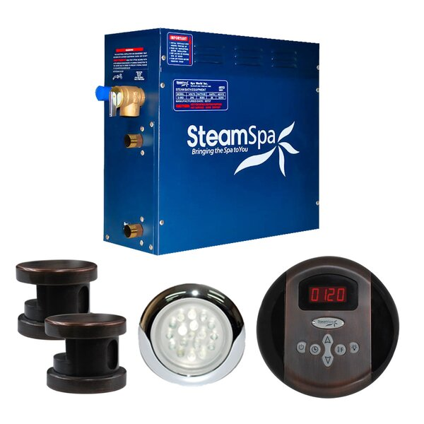 SteamSpa Indulgence 12 KW QuickStart Steam Bath Generator Package in Oil Rubbed Bronze by Steam Spa