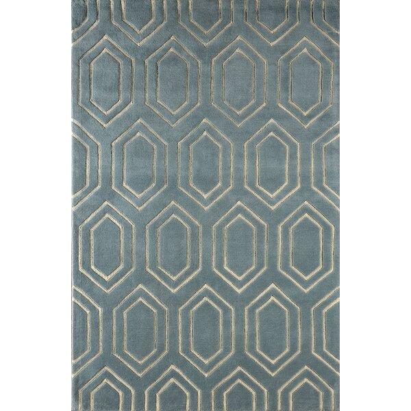 Graceland Hand-Tufted Blue/Ivory Area Rug by Mercer41