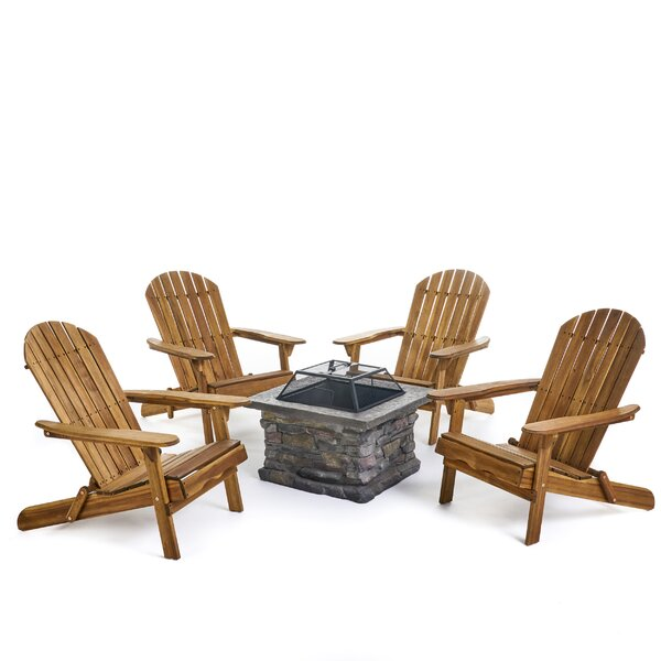 Billie Outdoor 5 Piece Seating Group by Loon Peak