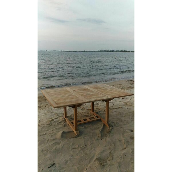 Extendable Teak Dining Table by Trijaya Living