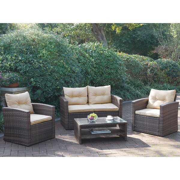4 Piece Sofa Seating Group Set with Cushions by JB Patio