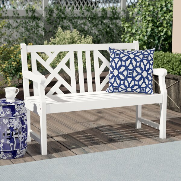 Zephyrine Wooden Garden Bench by Beachcrest Home