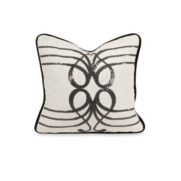 Lando Sequin Linen Throw Pillow by Winston Porter