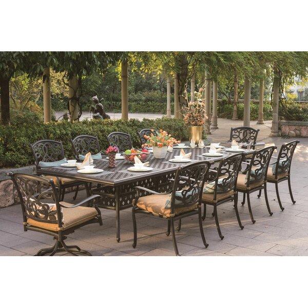 Calhoun 11 Piece Dining Set with Cushions by Fleur De Lis Living