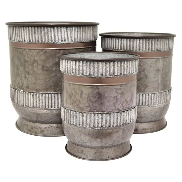 Celaya 3 Piece Steel Pot Planter Set by Gracie Oaks