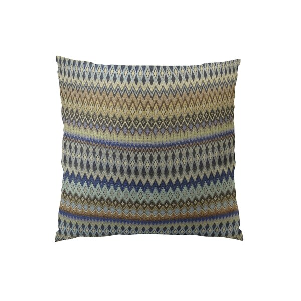 Zig Along Handmade Throw Pillow by Plutus Brands