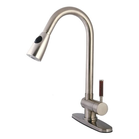 Wilshire Pull Down Single Handle Kitchen Faucet by Kingston Brass