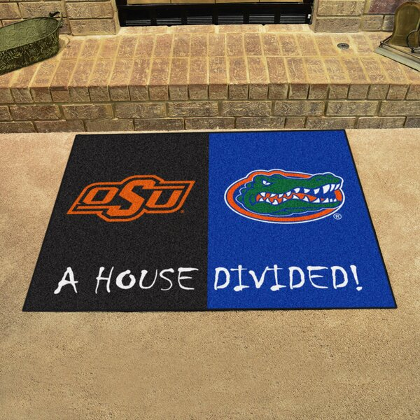 House Divided - Oklahoma State / Florida Doormat by FANMATS
