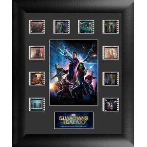 Marvel Guardians of the Galaxy Ten Clip FilmCell Framed Vintage Advertisement by Trend Setters