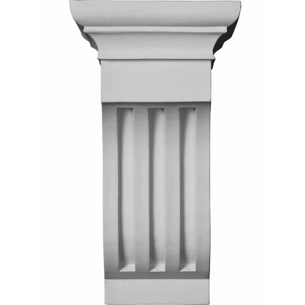 Edwards Curved 12 H x 6.5 W x 7.38 D Corbel by Ekena Millwork