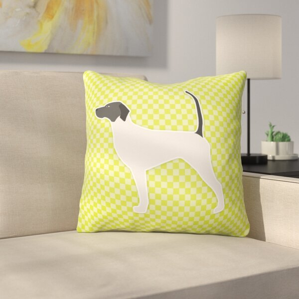 English Pointer Indoor/Outdoor Throw Pillow by East Urban Home